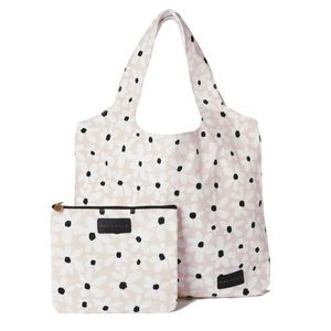 Poppy & Peonies Floral Print Canvas Tote & Clutch